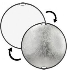 2-in-1 Reflektor 110cm (Weiß/Silber) m. Griff