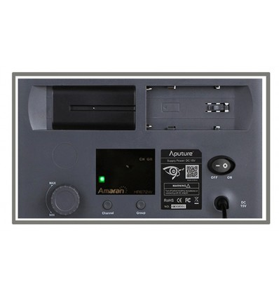 Aputure Amaran 672 Kit, 3-Leuchten - LED-Video-set - CRI95+ Batterie und 220volt, m-Tasche, Fernbedienung, knækled, Ladegerät+