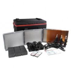 Aputure Amaran 672 Kit, 3-Leuchten - LED-Video-set - CRI95+ Batterie und 220volt, m-Tasche, Fernbedienung, knækled, Ladegerät+ 6