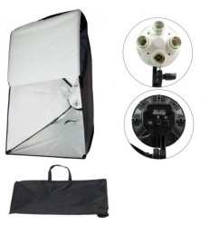 SLH5 Komplette Video Lampe video Licht m Stativ, lampehoved, softbox, 5 x 125watt Energiesparlampen