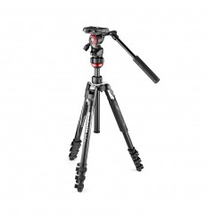 Manfrotto Stativkit Aluminium Video Befree Live Sort