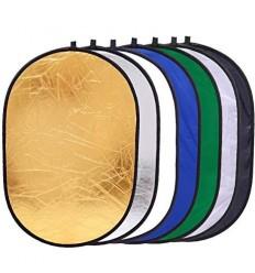 Reflektor 7i1 (Soft -, Silber -, Gold -, Weiß -, Chroma-Grün, Chroma-Blau & Wave) 110 x 71 cm 0