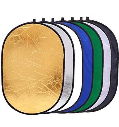 Reflektor 7i1 (Soft -, Silber -, Gold -, Weiß -, Chroma-Grün, Chroma-Blau & Welle) 122 x 92 cm 0