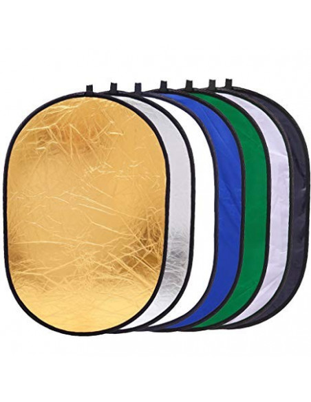 Reflektor 7i1 (Soft -, Silber -, Gold -, Weiß -, Chroma-Grün, Chroma-Blau & Wave) 60 cm x 90 cm 0