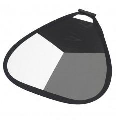 Grau-Karte 56cm hand-(Weiß / Grau / Schwarz & Silber) 0