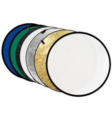 5i1 Rückstrahler Rund Ø60 cm (Weich, Silber, gold, schwarz & weiß)