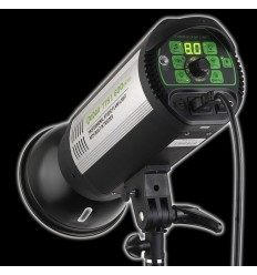 TTS II400 - 400watt Digital-Flashlampe - Leitzahl 64 - LED display - Fernbedienung,1 - 1/128 Helligkeit 0