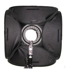 Softbox für strobist-håndflash 40 x 40 cm) der m-Diffusor und Halterung t-Ständer, klappbar und leistungsstark stoftaske