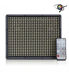 Aputure Amaran 672 - Video LED Lampe CRI95+ AC/DC, Fernbedienung, knækled, Ladegerät und 2 Stück 6600mah NP-Batterien