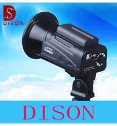 Triopo F3-500 Batteri (og 220volt) Flashlampe 500Watt TTL-både NIKON OG CANON, HSS,1/8000Sync, Multi Flash, Front og Rear Curta