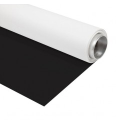 Menik Vinyl-Schwarz/Weiß - 2.7 x 6m - 440gr. kvm