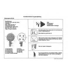 Englische Anleitung für BOLING fastlyslamper (SLH-Serie)
