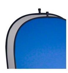 Falthintergrund Grau/Blau-Stark, 2-Lagige Stoff-Mehrere Größen