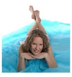 Walimex easy stofbaggrund, 3x6m blau