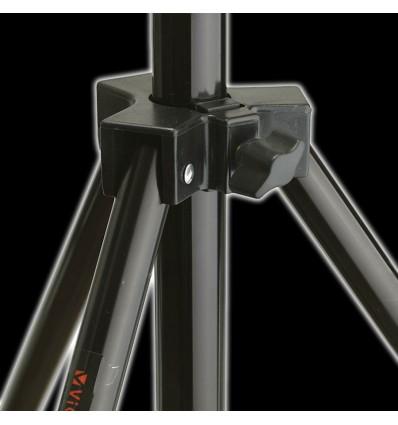 Transportable baggrundsstativ 120-305cm breit x 280 cm hoch schwarz, - Teleskop versenkbare tværlægger, M schwere Tasche 9