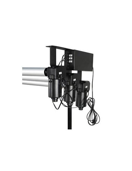 Gesteuert durch einen motor Baggrundssystem zu 3 Rollen 0