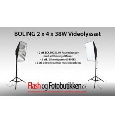 BOLING SLH4 3 4 x 25 Watt Videolyssæt 1