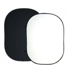 Falthintergrund - Weiß/Schwarz-Sharp 2-Ply-Stoff-Mehrere Größen