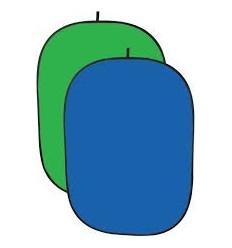 Falthintergrund Blau/Grün, Kräftig, 2 Ply-Stoff-Mehrere Größen