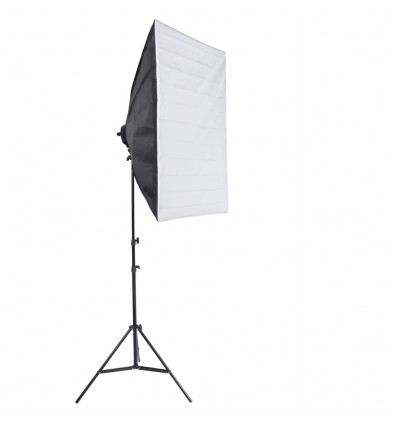 SLH4 Komplette Start-Paket - video-Licht-m-Stativ-280 cm, lampehoved, softbox 4 x 125watt Energiesparlampen 0