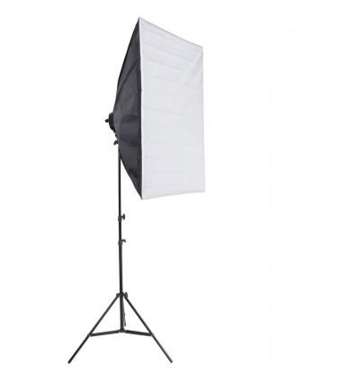 2 x SLH4 Komplette Start-Paket - video-Licht-m-Stativ-280 cm, lampehoved, softbox 8 x 125watt, Energiesparlampen 1