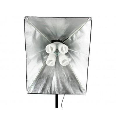 2 x SLH4 Komplette Start-Paket - video-Licht-m-Stativ-280 cm, lampehoved, softbox 8 x 125watt Energiesparlampen 2