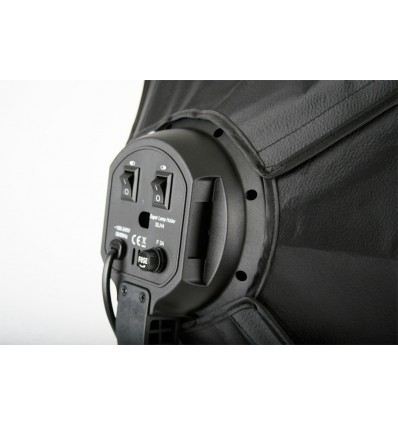 2 x SLH4 Komplette Start-Paket - video-Licht-m-Stativ-280 cm, lampehoved, softbox 8 x 125watt, Energiesparlampen 4