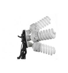 2 x SLH4 Komplette Start-Paket - video-Licht-m-Stativ-280 cm, lampehoved, softbox 8 x 125watt Energiesparlampen 9