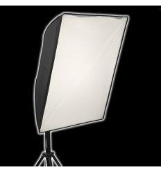 2 x SLH4 Komplette Start-Paket - video-Licht-m-Stativ-280 cm, lampehoved, softbox 8 x 125watt, Energiesparlampen 10
