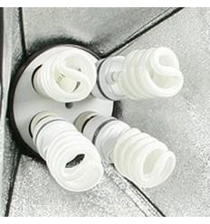 2 x SLH4 Komplette Start-Paket - video-Licht-m-Stativ-280 cm, lampehoved, softbox 8 x 125watt Energiesparlampen 12