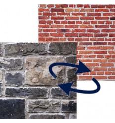 Lastolite falthintergrund Mauer / Stein-Wand-1.5x2.1 m.