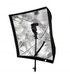 Schirm Softbox 60 x 60 - für Blitzgeräte mit Diffusor