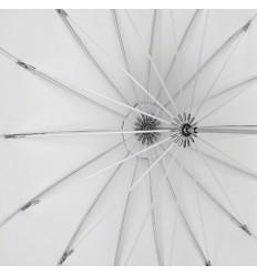 Regenschirm, 130cm Tief, Weiß Top-Qualität 1