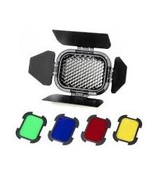 Godox Barndoor-und Gel-kit für AD200 Flash