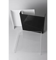 WEIß - Große Kristall-Foto-Tisch - /Hintergrund-40x40 cm