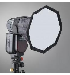 Strobist softbox 21cm oktogon - Faltbar mit Tasche