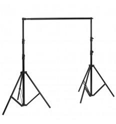 Transportable baggrundsstativ 225-400cm x 280 cm schwarz
