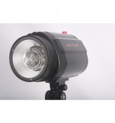 """Godox 160watt Flashlampe - Leitzahl 43 - 75watt Guidepære - Kleines universal-Lampenfassung m. built-in """"keylight"""""""
