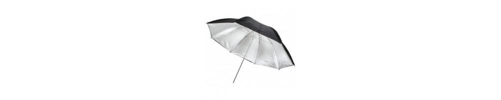 Paraplyer til fotobrug - vælg mellem gennemlys eller refleks